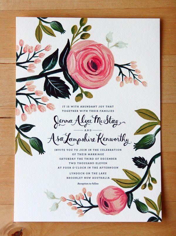 Convite de Casamento - Floral                                                                                                                                                                                 Mais