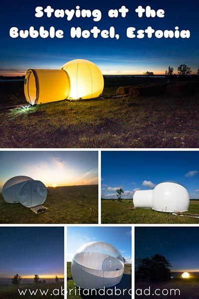 Forget camping! If you're looking for one of the most secluded places to stay at in Europe then the Bubble Hotel in Estonia is for you!