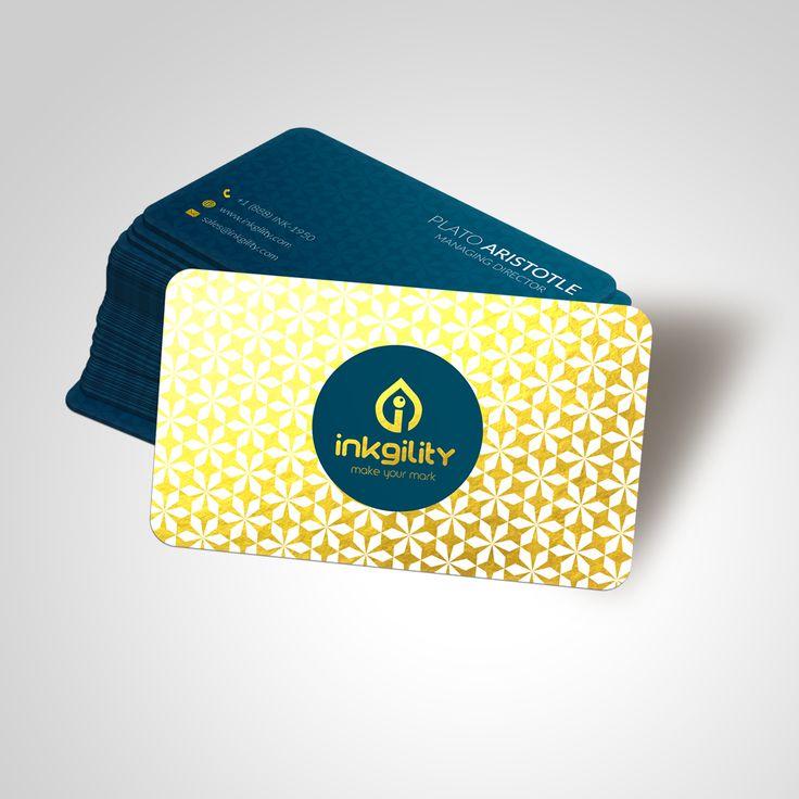26 best premium finish foil business cards images on pinterest gold rush colourmoves