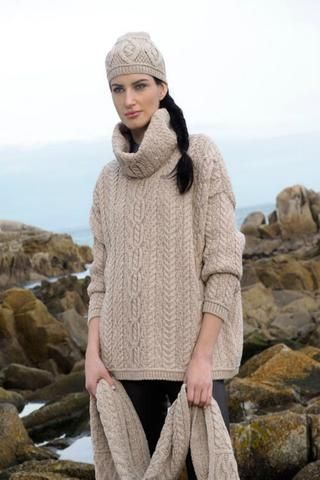 Beautiful oversized Aran Sweater