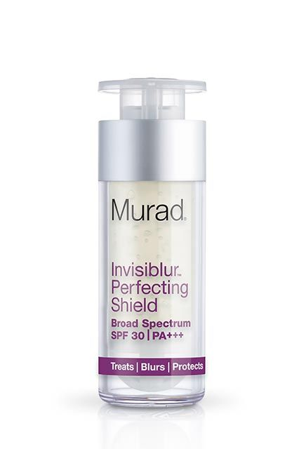 In April, Murad is essentially poised to reinvent the entire game with its new invisible sunscreen — a broad-spectrum SPF 30. It's a bit heavy, so I'm swapping it in place of a normal moisturizer and layering a hyaluronic serum underneath it, but its light-diffusing particles are great for underneath foundation, and I know I'm getting my daily dose of coverage. Murad Invisiblur Perfecting Shield, $65,  available April at Murad.