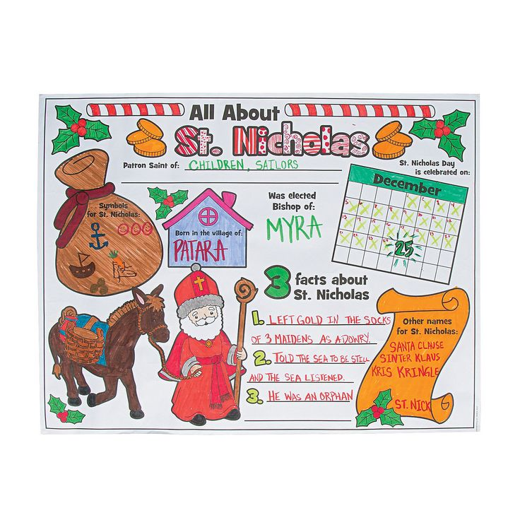 Nicholasu201d Posters, Coloring Crafts, Crafts For Kids, Craft U0026 Hobby Supplies    Oriental Trading. Find This Pin And More On Saint Nicholas Day ...