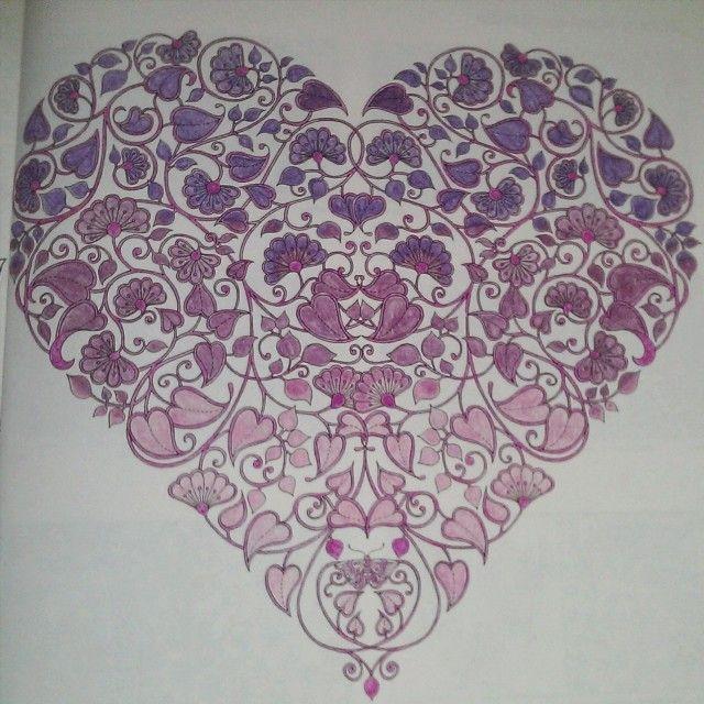 #kolorowanie ciąg dalszy  #secretgarden #coloringbook #coloringforadults #johannabasford #secretgarden  #hobby