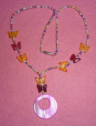 Sweet Tarts Butterfly Necklace