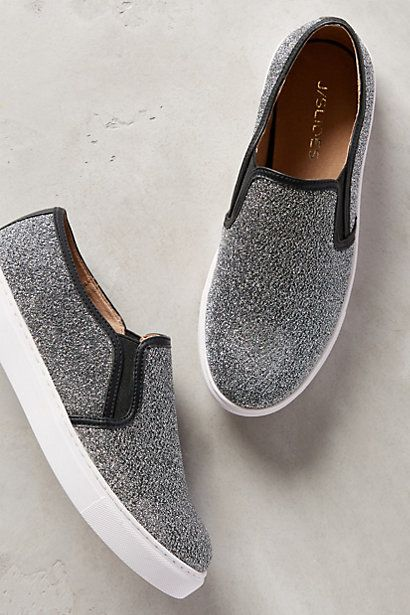 J Slides Pewter Sneakers, Size 10, $75 #anthropologie