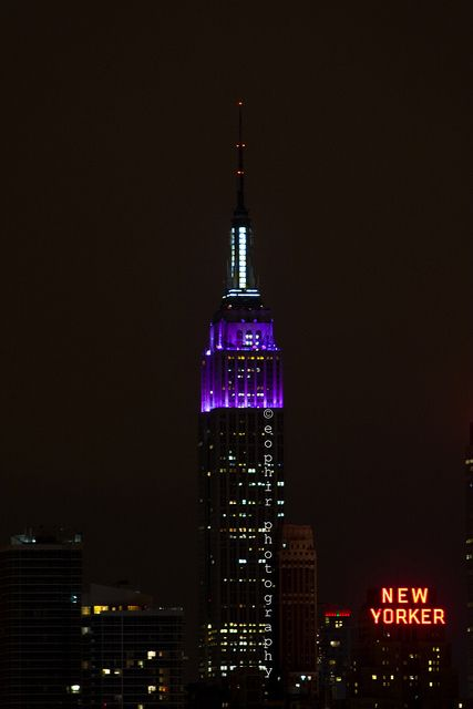 the annual sight of the Empire State Building lighting up all purple for NYU commencement