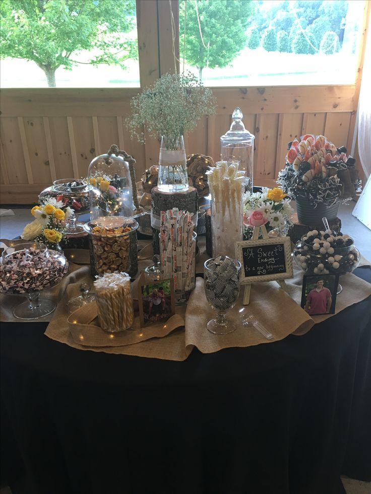 Grad party candy table