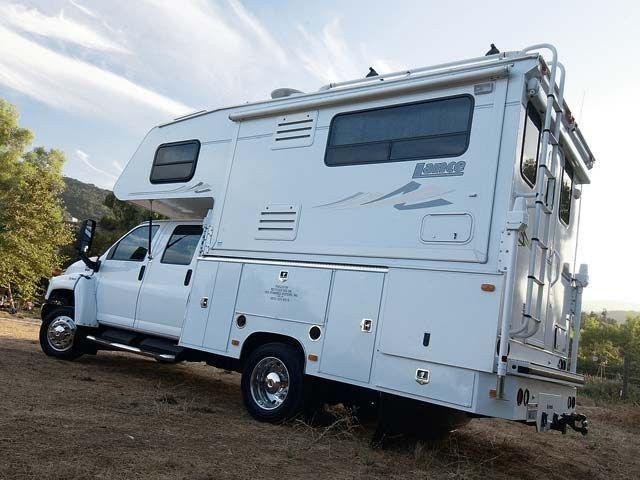 Flatbed truck camper