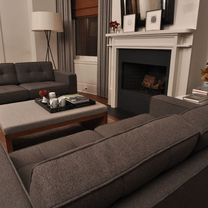 ivory and eggplant living rooms | Grey Sofa Design Ideas, Pictures, Remodel, and Decor