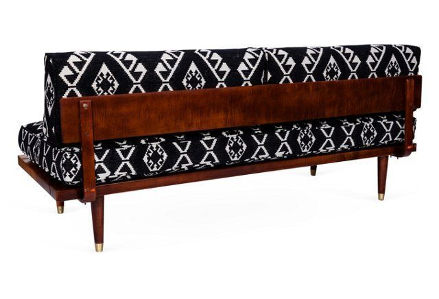Tribal Print Midcentury Daybed