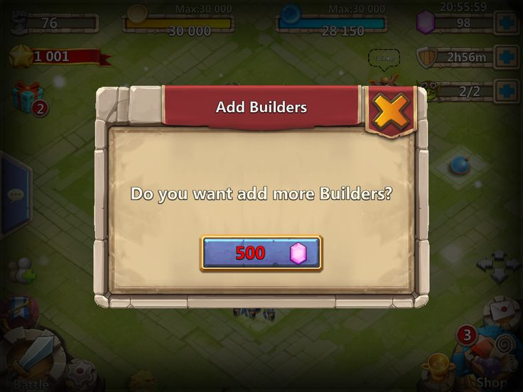 Castle Clash by IGG - Syestem Message Pop Up - UI HUD User Interface Game Art GUI iOS Apps Games