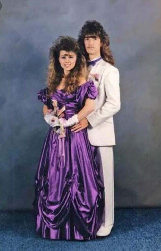 prom 80s style . 80