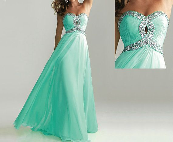 Green Colored Prom Dresses