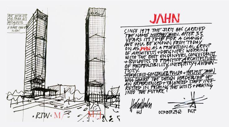 Helmut Jahn - Sketch Cosmopolitan