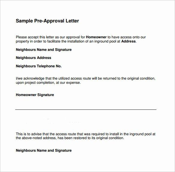 Approval Letter Example New Pre Approval Letter 8 Download Free Documents In Word Pdf Letter Example Lettering In Words