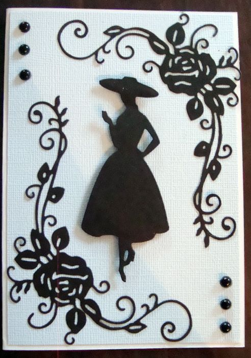 Tattered Lace Ornamental Rose Die and a Couture Creations Die (Lady)