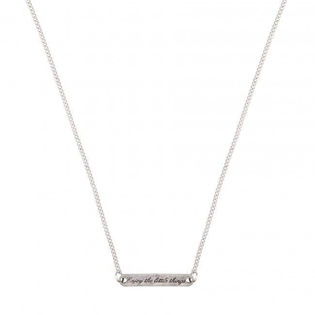 Enjoy The Little Things Necklace Silver - Now available @ www.myfavouritemusthaves.com #newarrivals #clubmanhattan