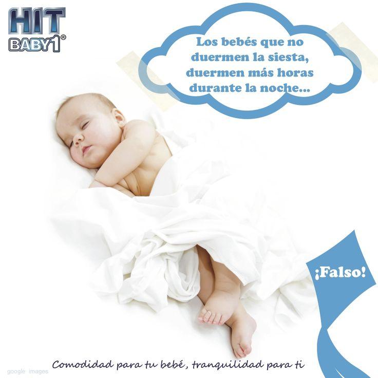 Los bebés que no duermen la siesta, duermen más horas durante la noche. Es falso. #mitos #bebés #siesta #sueño