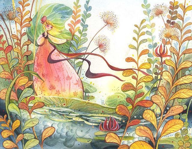 Illustration Enfant Artist - Alina Chau  watercolor