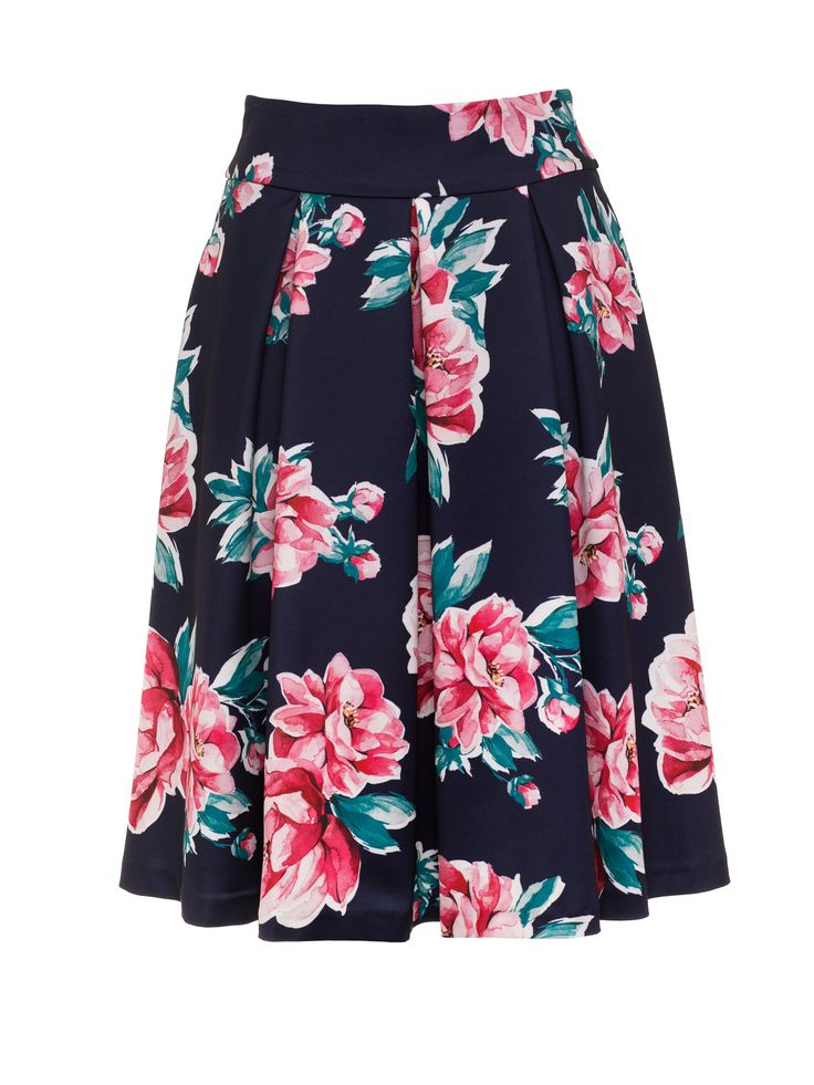Lotus Garden Skirt | Navy and Multi | Skirts