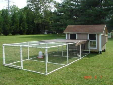 how to build a small movable chicken coop
