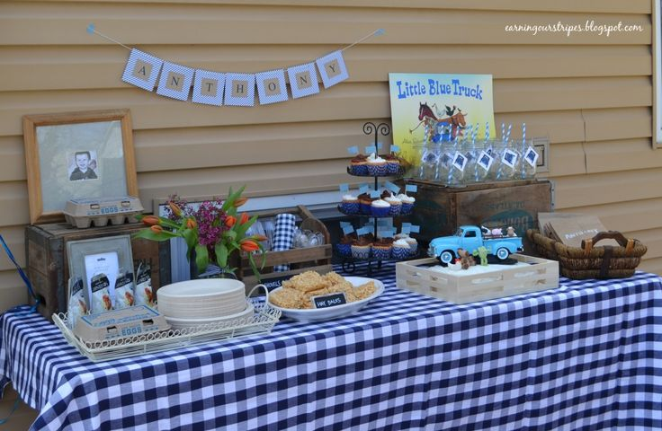 Little Blue Truck Themed Birthday Party: Shower Ideas, Birthday Parties, Second Birthday, 1St Birthday, Birthday Party'S Baby, Birthday Love, Parties Ideas, 2Nd Birthday, Birthday Ideas