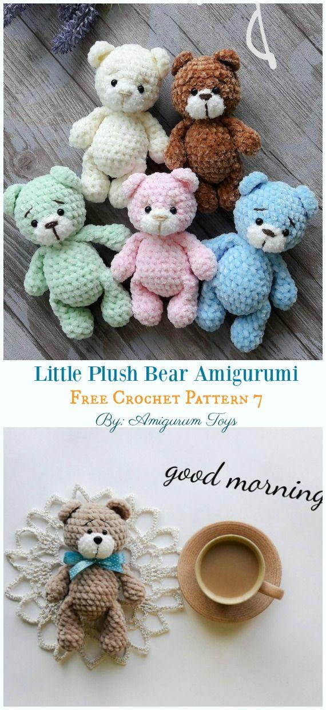 Free Amigurumi Bear Toy Softies Crochet Patterns