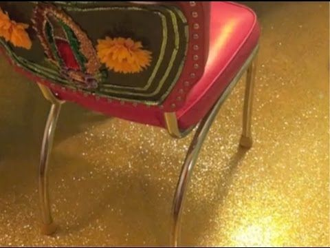 How To Glitter A Concrete Floor | Crafty Chica