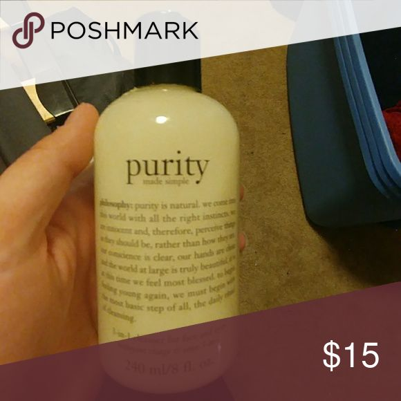 New never used purity philosophy face wash Never used, came in a set. Trade obo! Philosophy Makeup