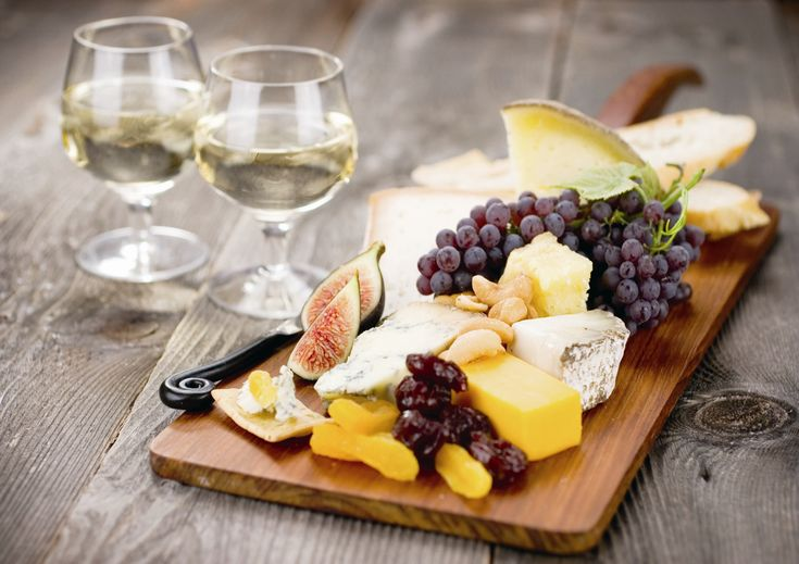 Wine and cheese.  Simply the best pairing and a common treat in wine country.