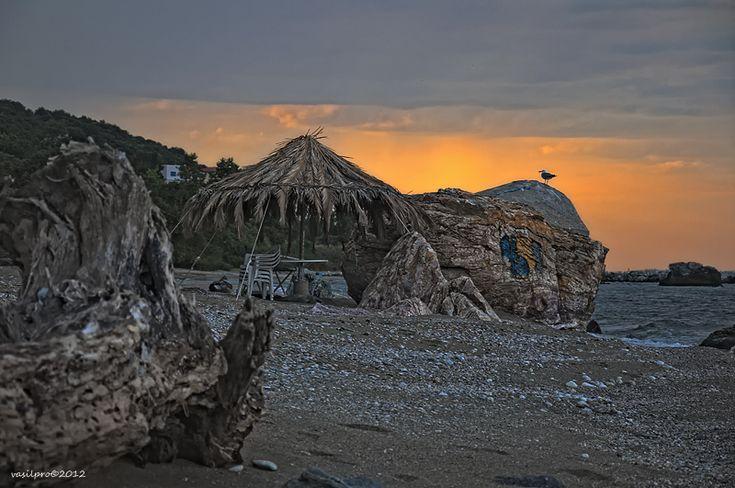 A beautiful beach in Polydendri, Larisa, Greece.