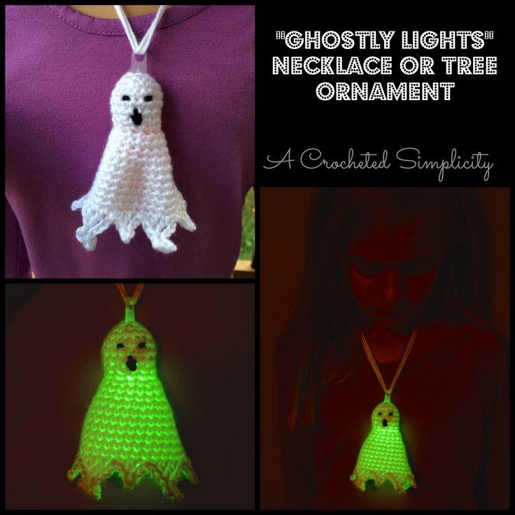 "Free Crochet Pattern & DIY  |  ""Ghostly Lights"" Necklace"