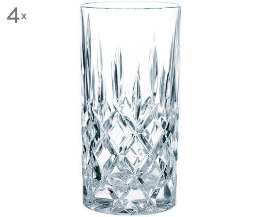Kristall-Longdrinkgläser Noblesse, 4 Stück, Transparent