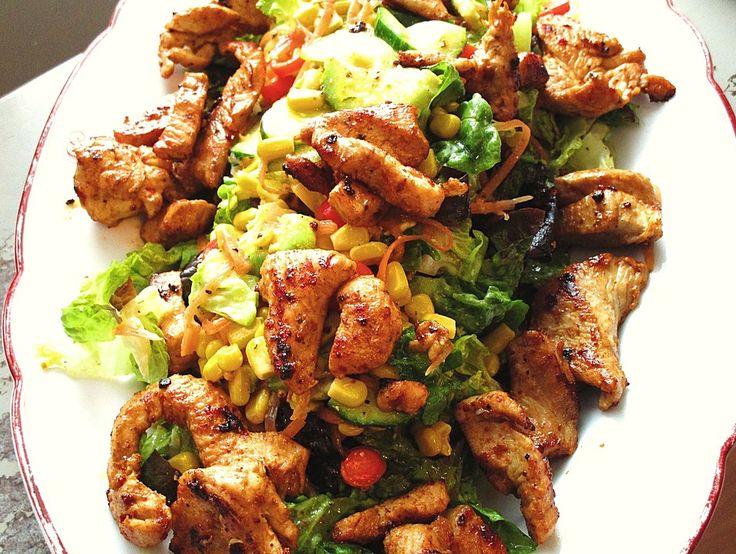 Bunter Salat mit scharfen Putenstreifen, ein sehr schönes Rezept aus der Kategorie Fleisch & Wurst. Bewertungen: 27. Durchschnitt: Ø 4,4.