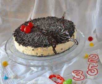 Tarta helada de mariposa, para celebrar mi cumpleaños