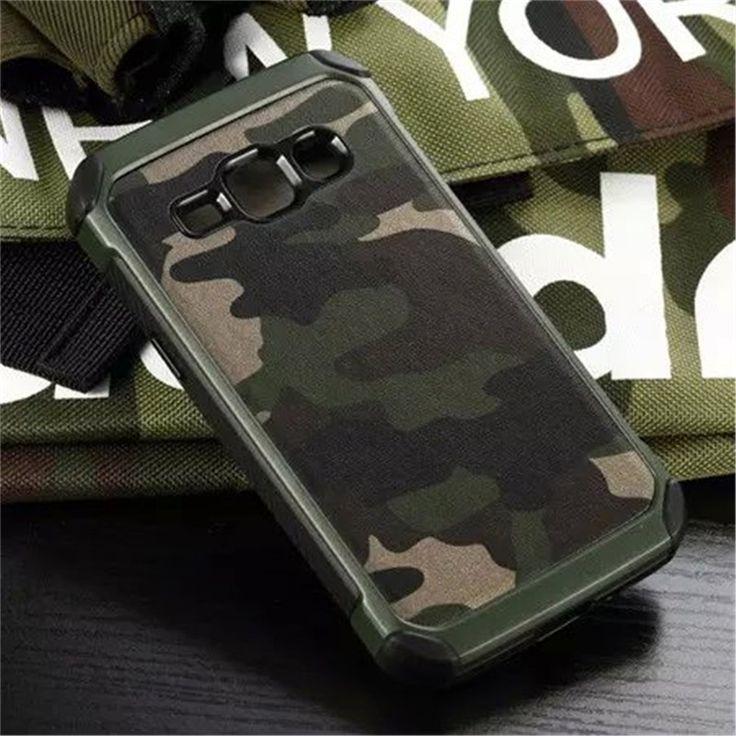 Camouflage Armor Plastic Hard Shell Shockproof Case Cover For Samsung Galaxy J1 J100F J100H J100M Hybrid Camo Bag Capa