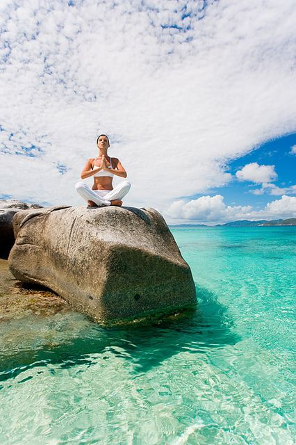 Meditation on a rock.