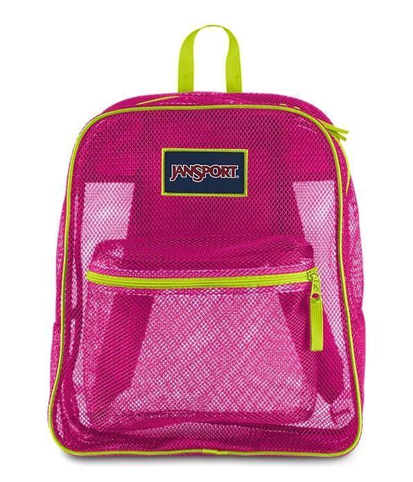 Jansport Mesh Backpack Cyber Pink