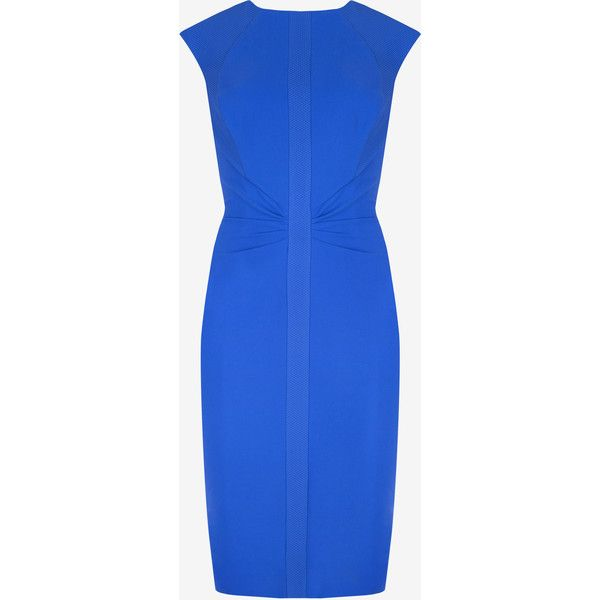 Ted Baker Mesh Panel Dress featuring polyvore fashion clothing dresses bright blue cap sleeve knee length dress bodycon dress blue dress blue bodycon dress knee high dresses