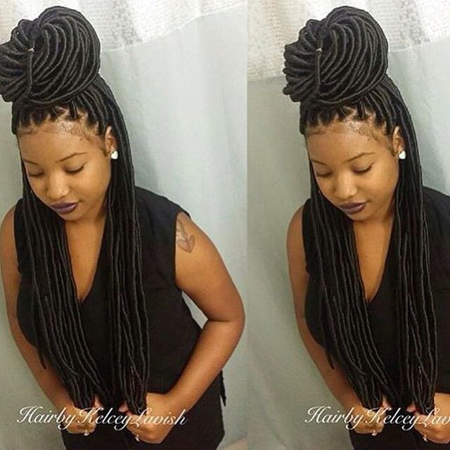 ***Try Hair Trigger Growth Elixir*** ========================= {Grow Lust Worthy Hair FASTER Naturally with Hair Trigger} ========================= Go To: www.HairTriggerr.com ========================= These Long Faux Locs Are Toooo Cute!