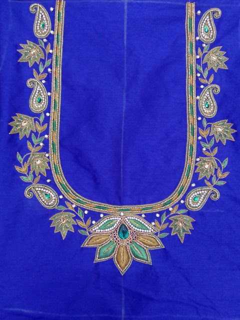 17 Best images about Maggam Work for Blouse on Pinterest | Blouse ...