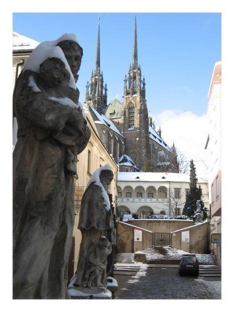 Brno - Petrov in winter (South moravia), Czechia #city #brno #czechia #cathedral