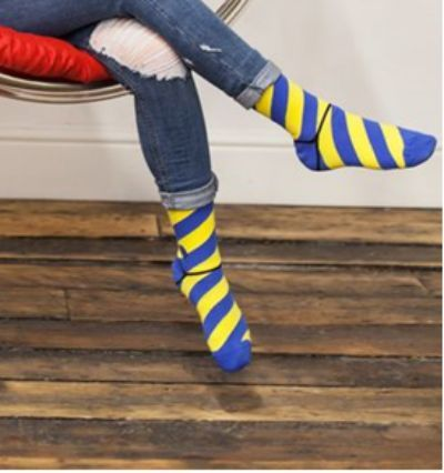 Ethically Sourced Blue and Yellow Bamboo Socks