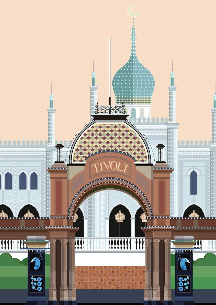 Tivoli entrance and Nimb - illustration #Sivellink