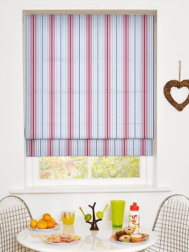 Deauville Coastal Blue Roman Blind from Blinds 2go