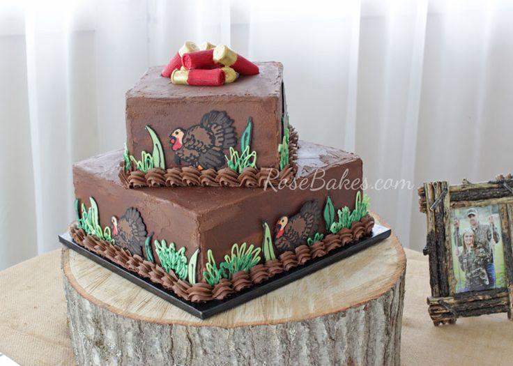 Turkey Hunting Groom's Cake