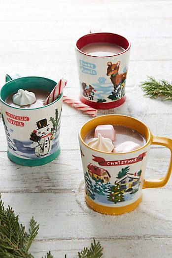 Snowy Salutation Mug