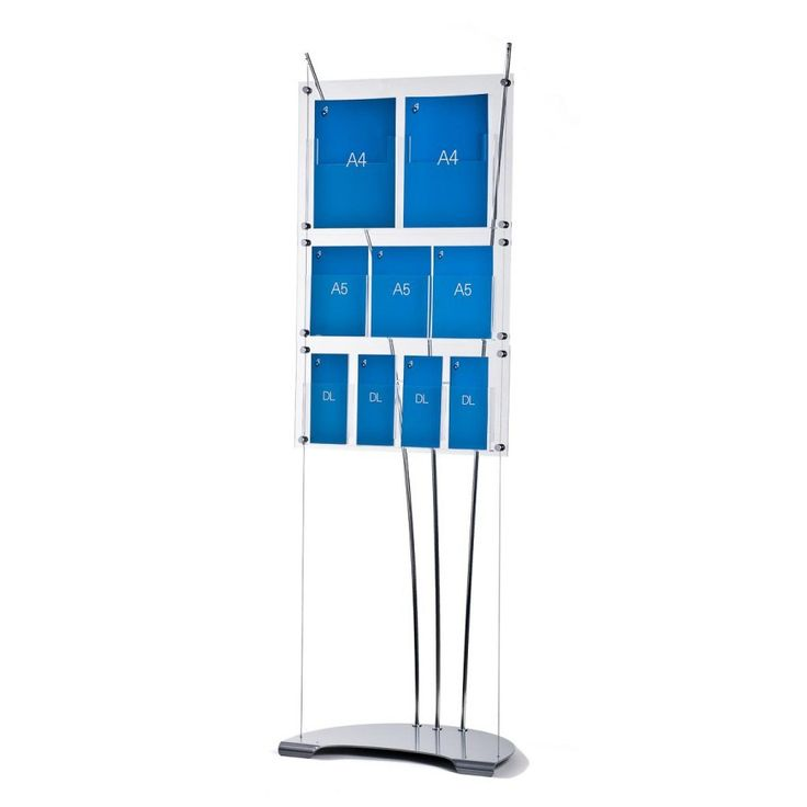 D3 Display with 1 x A4, A5 & DL brochure holder