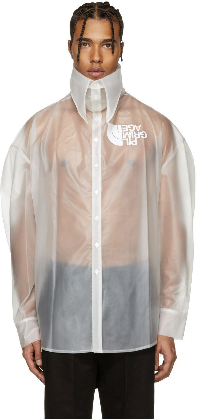 Hood by Air – Transparent Latex Pilgrim Shirt