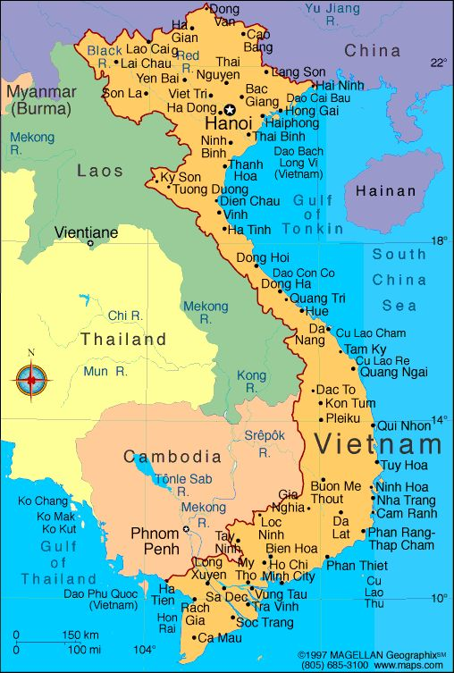 map of vietnam with cities - Google Search